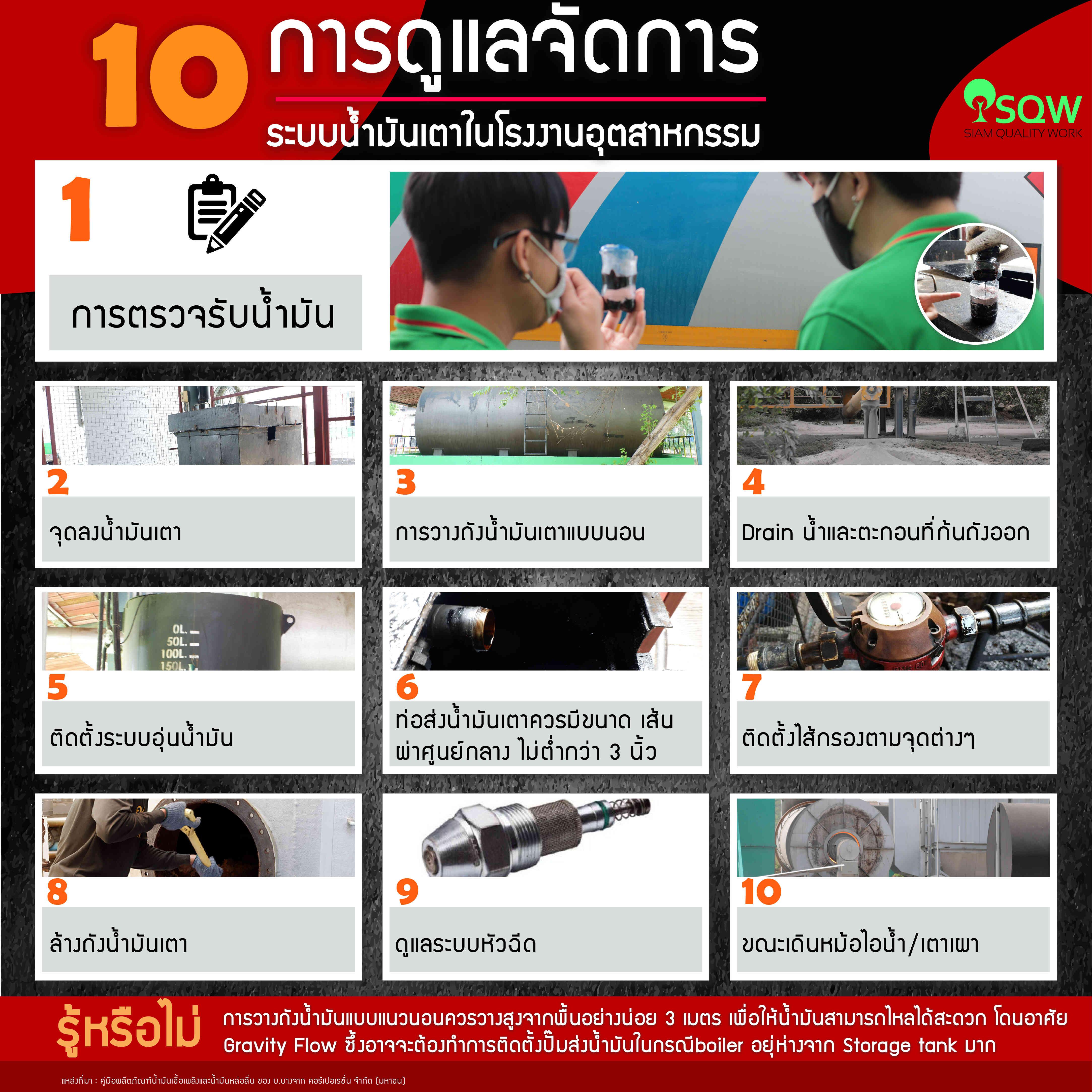 10 การจัดการระบบน้ำมันเตาในโรงงานอุตสาหกรรม